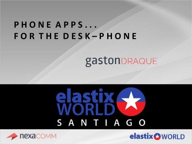 Phone Apps... para el teléfono de escritorio Slide 2