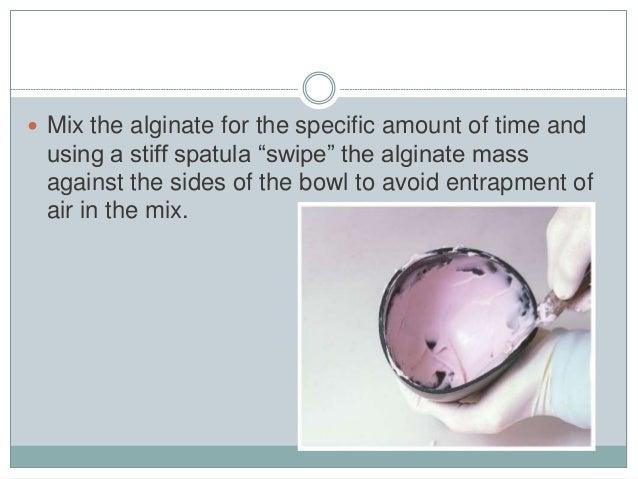 how to make alginate impression material
