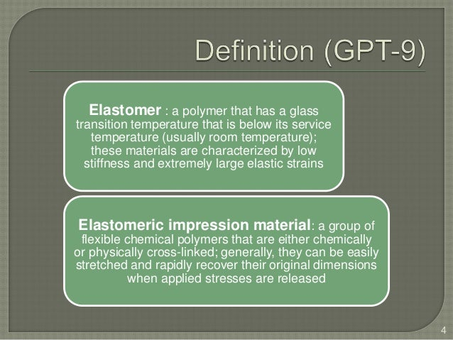 Elastomeric impression materials