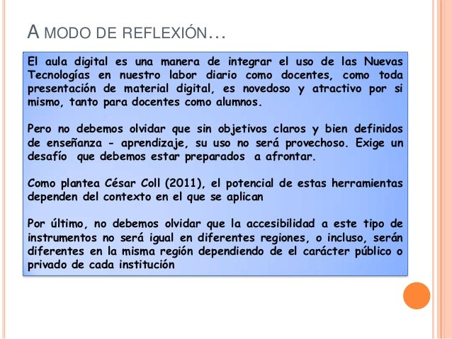 FUENTES ELECTRÓNICASBRAVO REYES, C (2010) . Hacia una didáctica del aula digital . Revista Iberoamericana deeducación, 51 ...