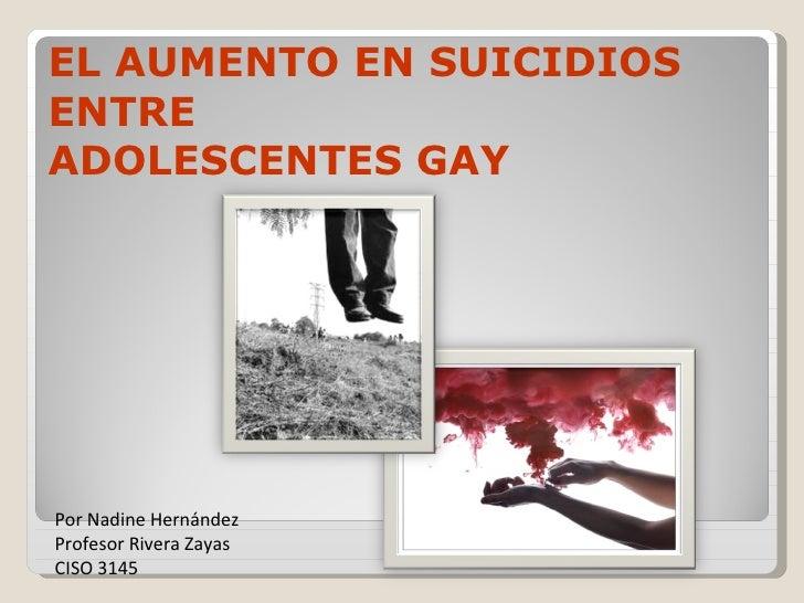 el aumento en suicidios entre adolescentes gay
