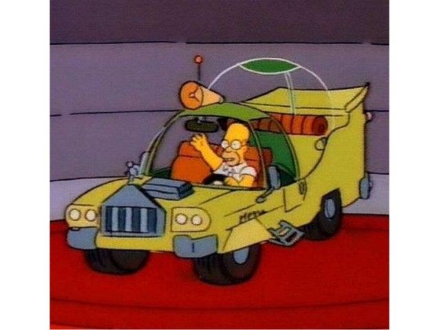 El auto de homero en la vida real Slide 3