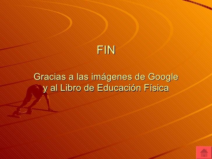 FIN Gracias a las imágenes de Google y al Libro de Educación Física