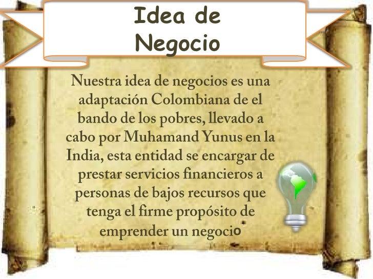 El Banco De Los Pobres Slide 2