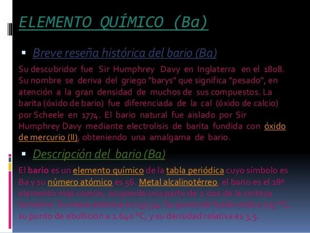 El bario quimica elemento urtaz Choice Image