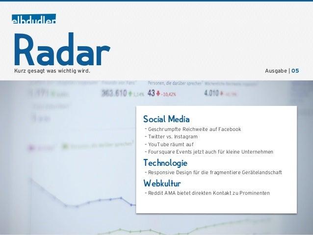 RadarKurz gesagt was wichtig wird.                                                       Ausgabe | 05                     ...