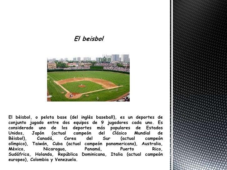 El beisbol br   El béisbol 713ed45977f
