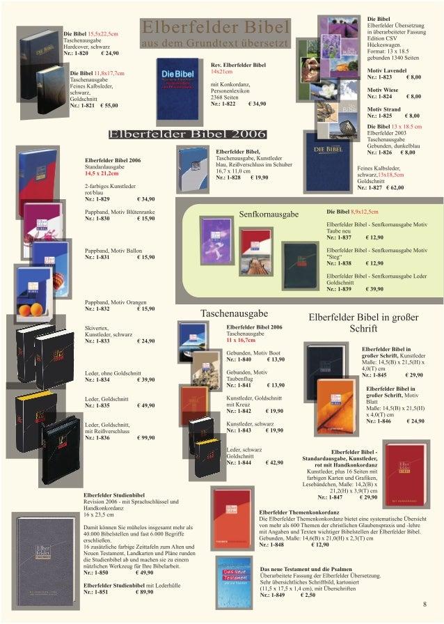elberfelder bibeln binefeld verlag telefonische bestellung und bera. Black Bedroom Furniture Sets. Home Design Ideas