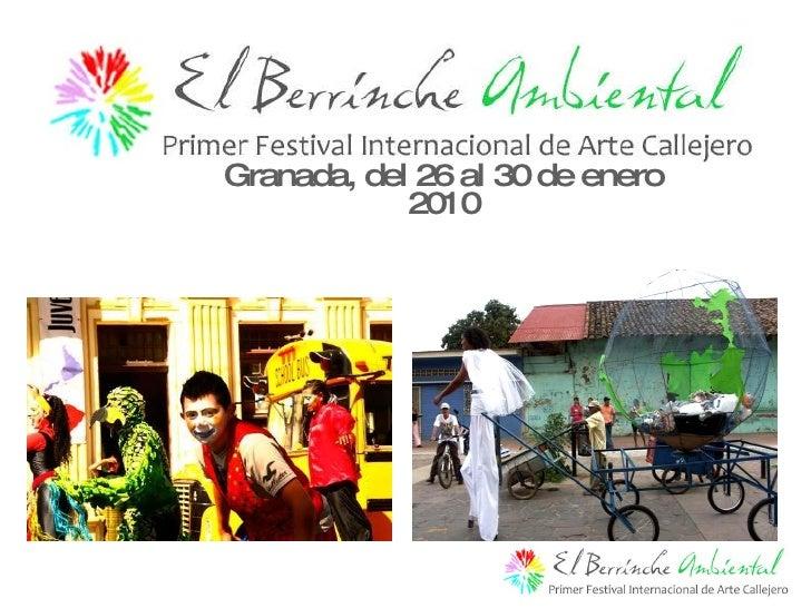 Granada, del 26 al 30 de enero 2010