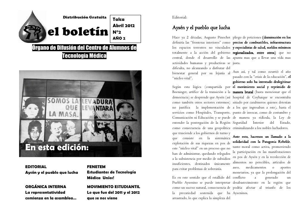 Distribución Gratuita                      Editorial:                                            Talca                    ...