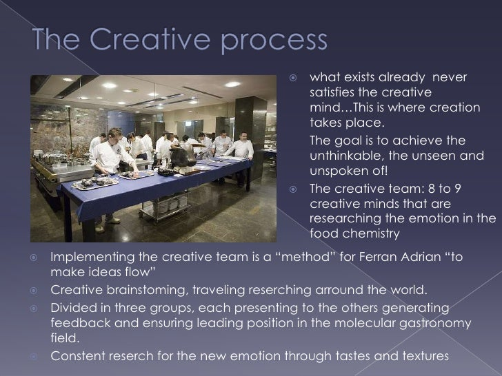 elbulli the taste of innovation My visit elbulli taller – ferran adria's private workshop  a form you have never  eaten before the tastes bring back strong memories  building multiple global  fortune 500 brands and creating innovative digital experiences.