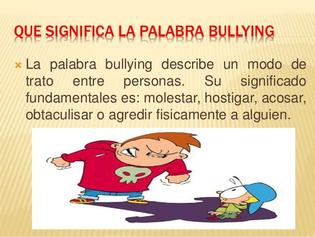 bullying descriptive Cyber bullying, a form of bullying that uses electronic media two research questions were addressed using descriptive statistics and chi-square tests.
