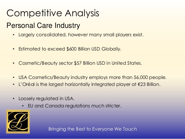 competitive analysis of estee lauder cosmetics Read this essay on estee lauder strategic management case  estee lauder case study analysis  in us prestige cosmetics category, estee lauder.