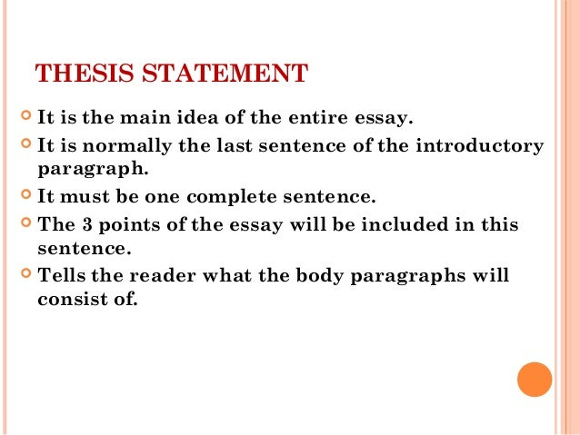 elc   writing skill thesis statement  topic sentence thesis statement