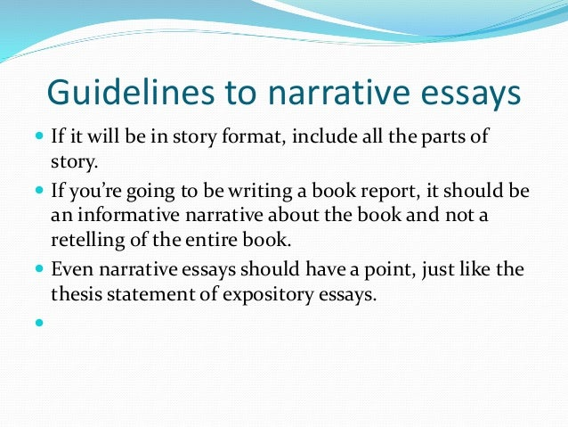 Examples Of A Thesis Statement For A Narrative Essay Personal No  A Narrative Essay Usually Use First Person Point Of View To Give Personal  Thoughts And Experiences