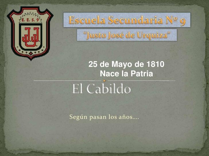 25 de Mayo de 1810         Nace la PatriaSegún pasan los años….