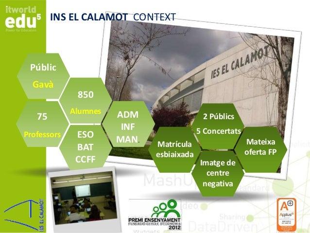 El Calamot: Projecte de renovació global d'un institut públic Slide 2