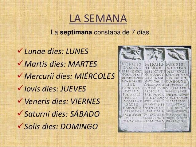 Calendario Romano.El Calendario Romano