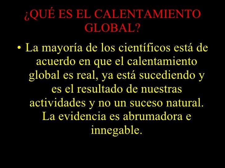 El Calentamiento Global Global