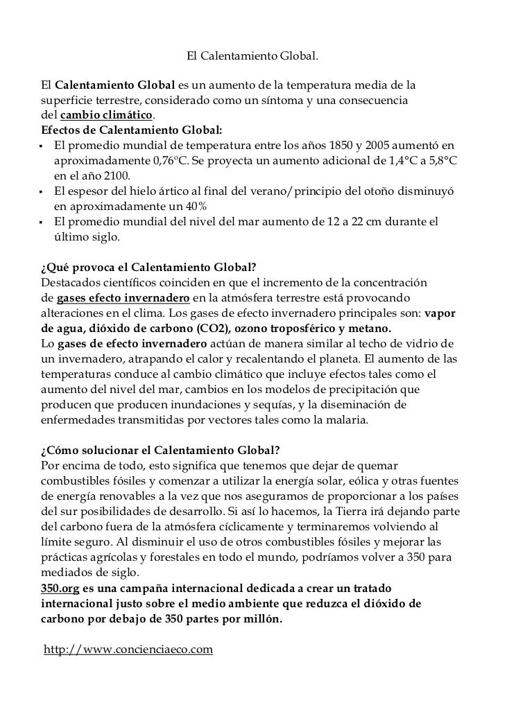 El Calentamiento Global. El Calentamiento Global es un aumento de la temperatura media de la superficie terrestre, conside...