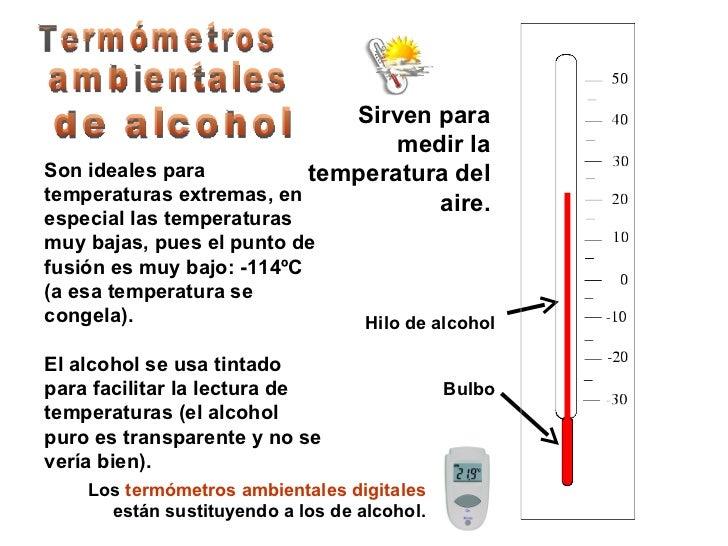 El calor y la temperatura - Usos del alcohol ...