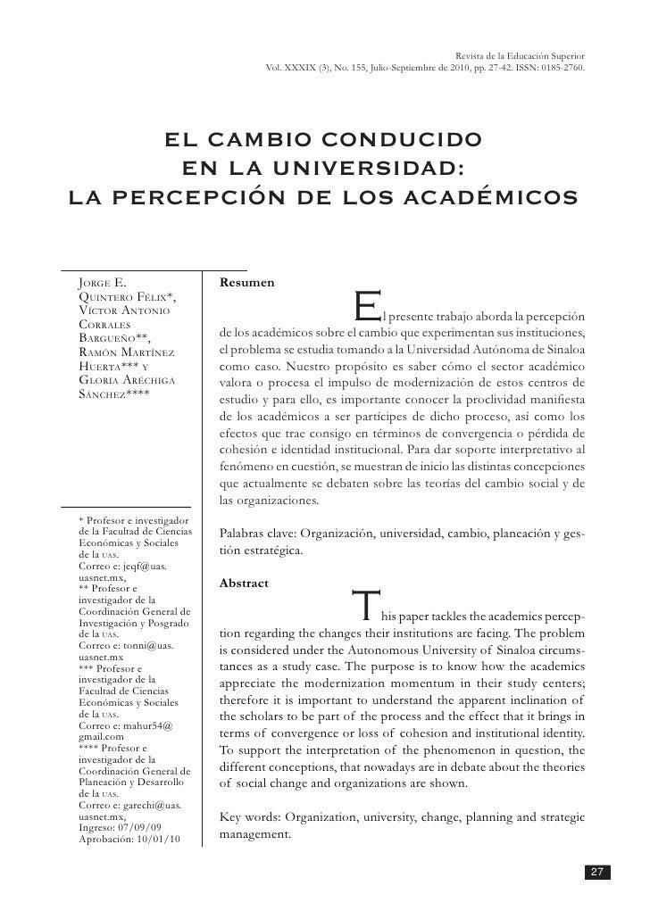 Revista de la Educación Superior                                      Vol. XXXIX (3), No. 155, Julio-Septiembre de 2010, p...
