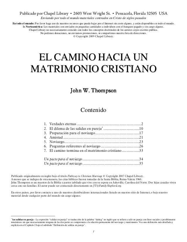 El Caminio Hacia Un Matrimonio Cristiano