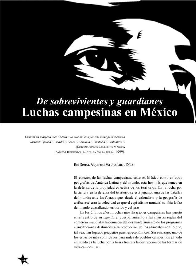 24 El corazón de las luchas campesinas, tanto en México como en otras geografías de América Latina y del mundo, está hoy m...