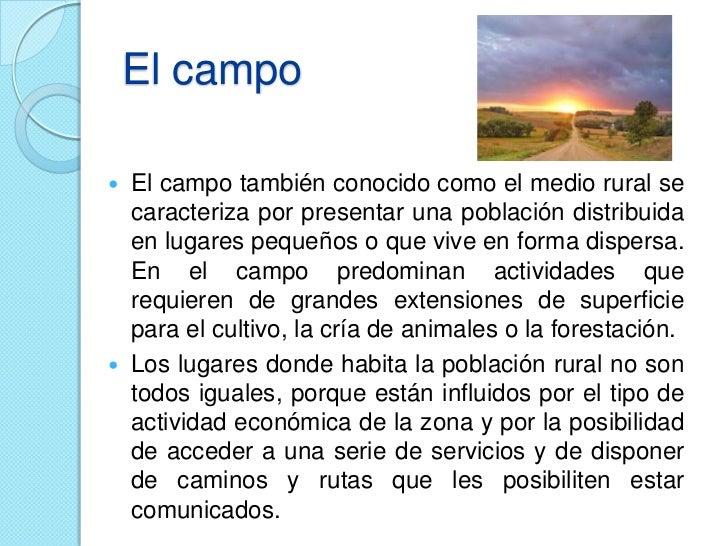 El campo y la ciudad definición Slide 2