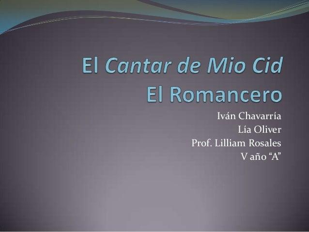 """Iván Chavarría Lía Oliver Prof. Lilliam Rosales V año """"A"""""""