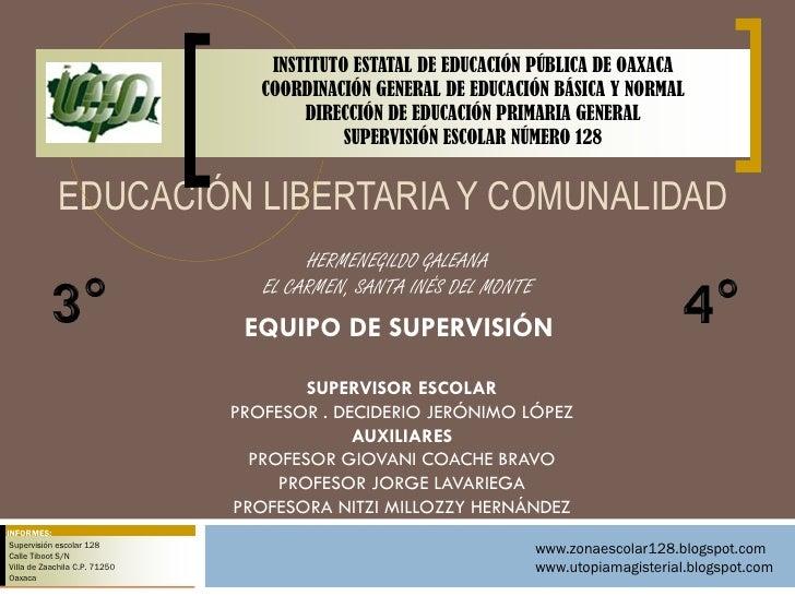 INSTITUTO ESTATAL DE EDUCACIÓN PÚBLICA DE OAXACA                                   COORDINACIÓN GENERAL DE EDUCACIÓN BÁSIC...