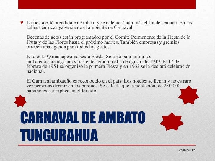 ♥ La fiesta está prendida en Ambato y se calentará aún más el fin de semana. En las  calles céntricas ya se siente el ambi...