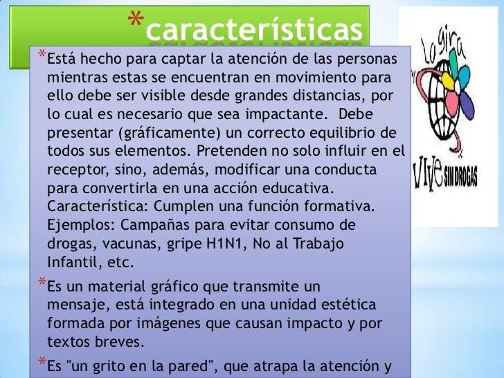 El cartel educativo for Cuales son las caracteristicas de un mural