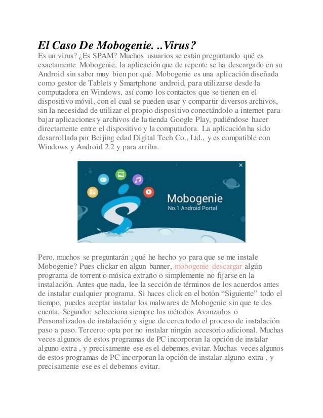 el caso de mobogenie virus