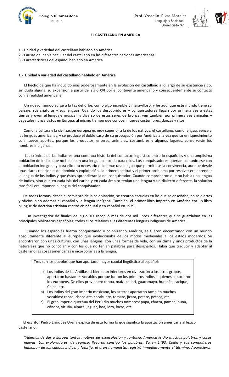 Colegio Humberstone                                       Prof. Yosselin Rivas Morales                  Iquique           ...