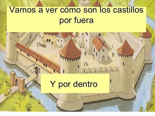 Vamos a ver cómo son los castillos            por fuera          Y por dentro