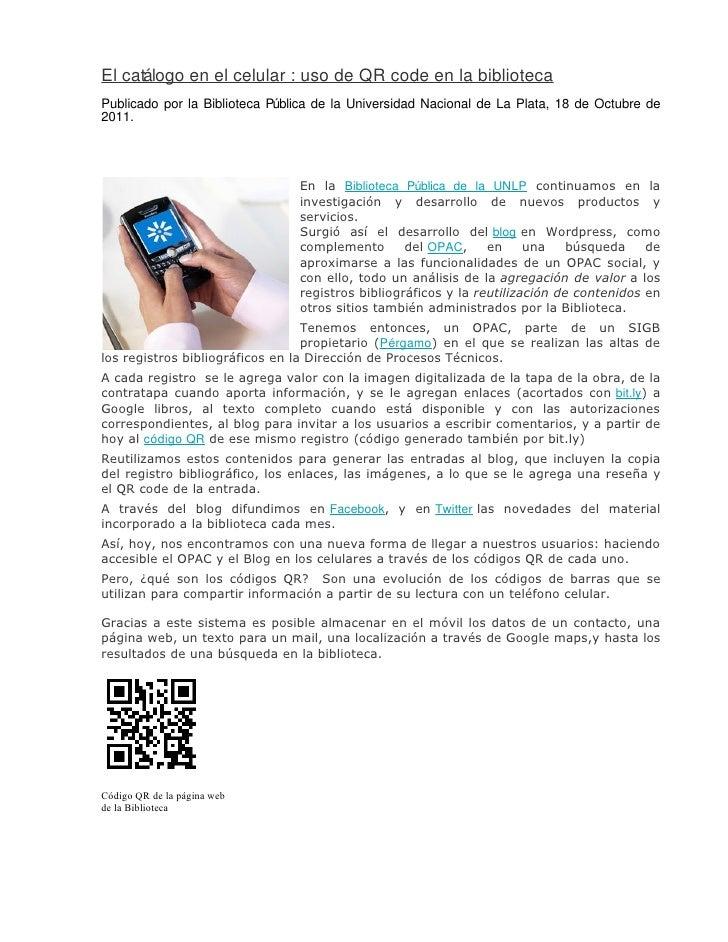 El catálogo en el celular