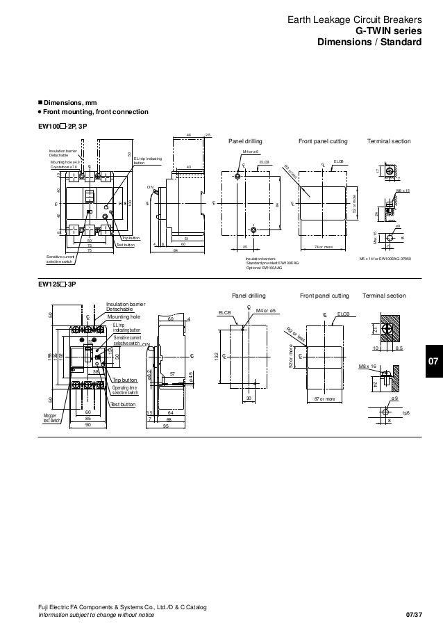 catalogue elcb fuji earth leakage circuit breaker fuji Residual Current Device 120 Pole Receptacles in Residual Current Device
