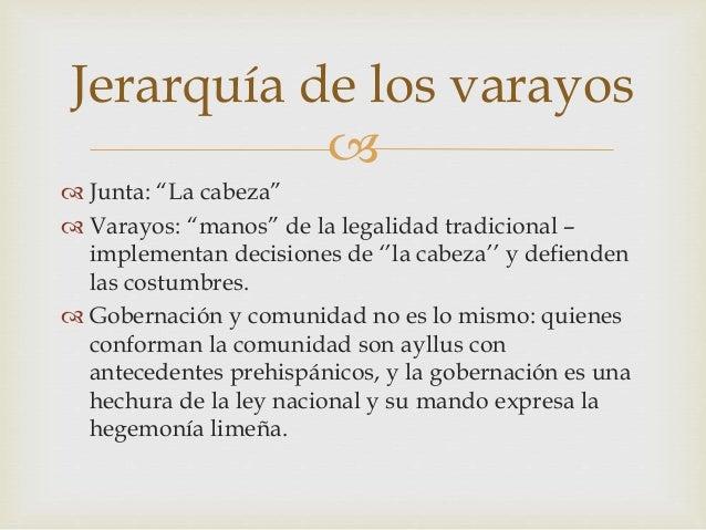 """  Junta: """"La cabeza""""  Varayos: """"manos"""" de la legalidad tradicional – implementan decisiones de ''la cabeza'' y defiende..."""