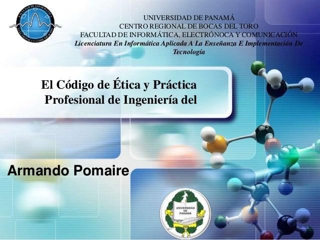 UNIVERSIDAD DE PANAMÁ LOGO                   CENTRO REGIONAL DE BOCAS DEL TORO            FACULTAD DE INFORMÁTICA, ELECTRÓ...