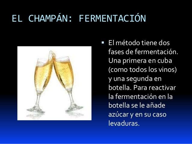EL CHAMPÁN: FERMENTACIÓN El método tiene dosfases de fermentación.Una primera en cuba(como todos los vinos)y una segunda ...