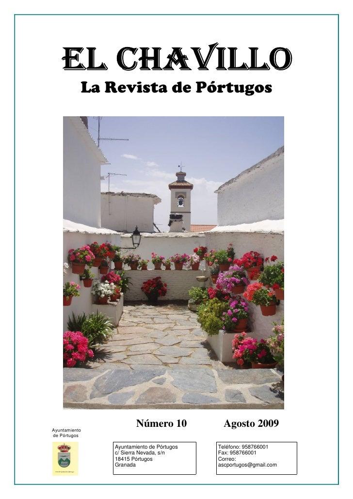La Revista de Pórtugos     Ayuntamiento                        Número 10           Agosto 2009 de Pórtugos                ...