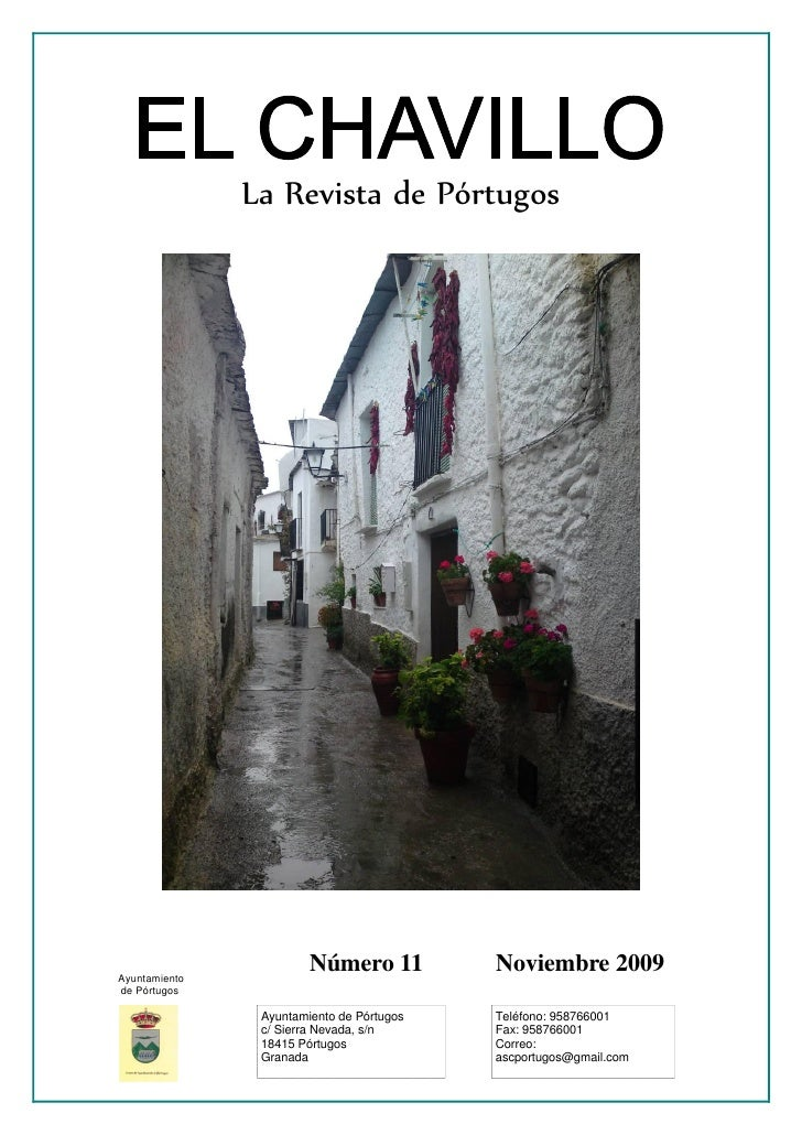 La Revista de Pórtugos     Ayuntamiento                         Número 11          Noviembre 2009 de Pórtugos             ...