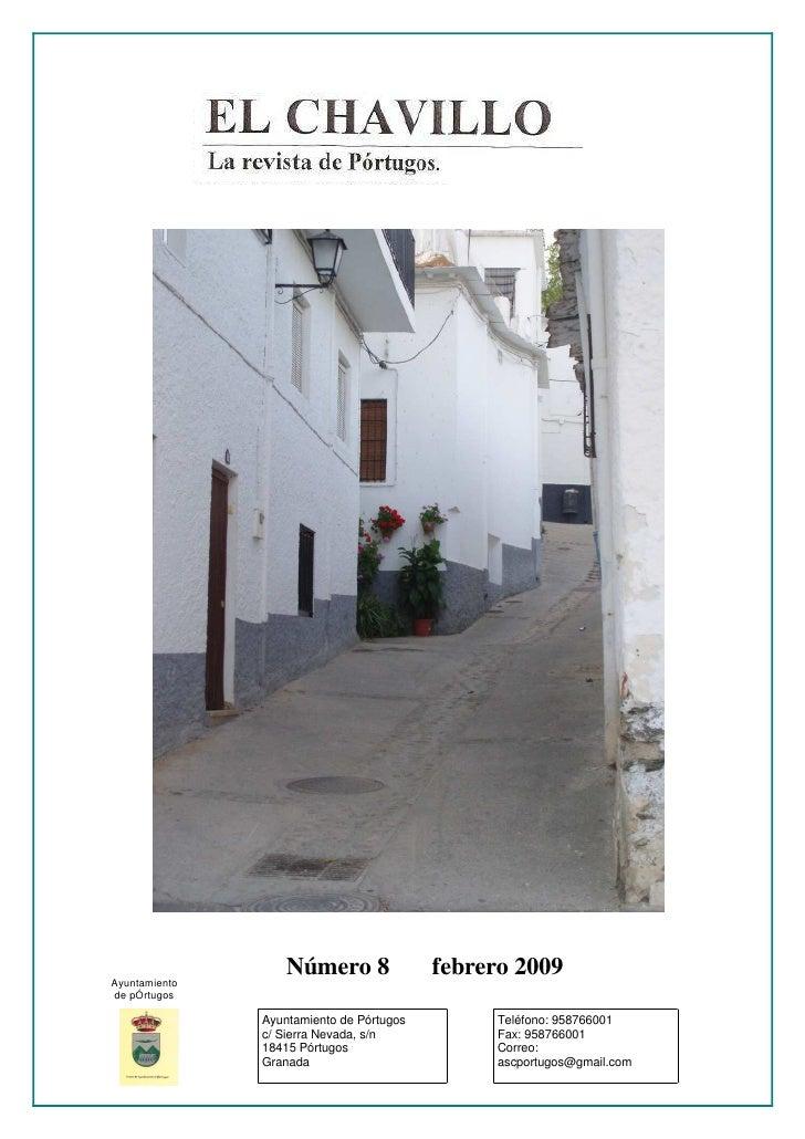 Ayuntamiento                    Número 8               febrero 2009 de pÓrtugos                 Ayuntamiento de Pórtugos  ...
