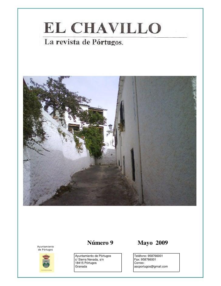 Ayuntamiento                        Número 9             Mayo 2009  de Pórtugos                 Ayuntamiento de Pórtugos  ...