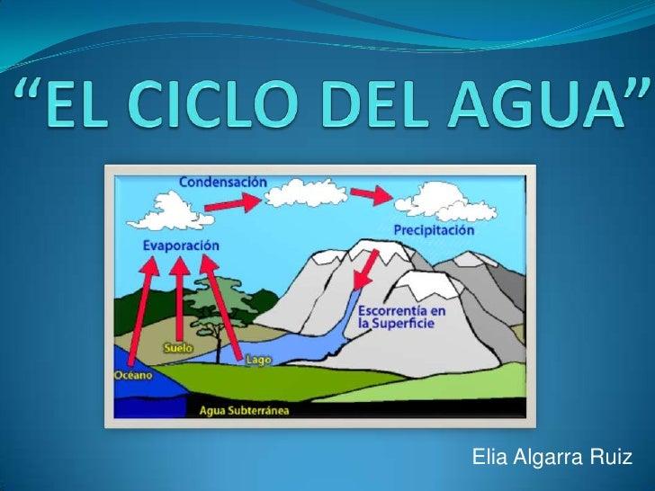 """""""EL CICLO DEL AGUA""""<br />Elia Algarra Ruiz<br />"""