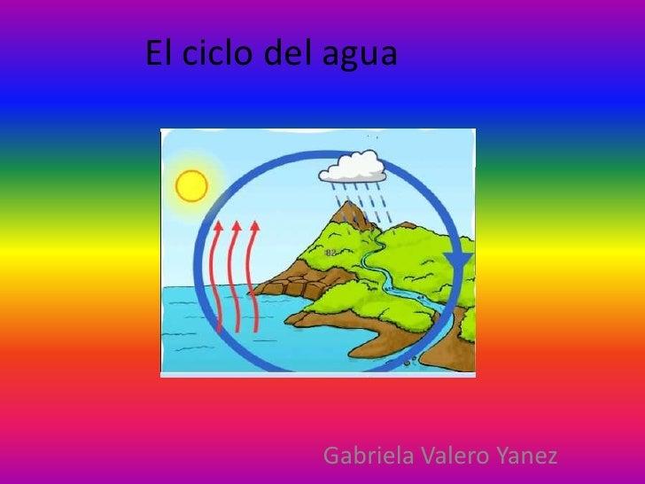 El ciclo del agua<br />Gabriela Valero Yanez<br />