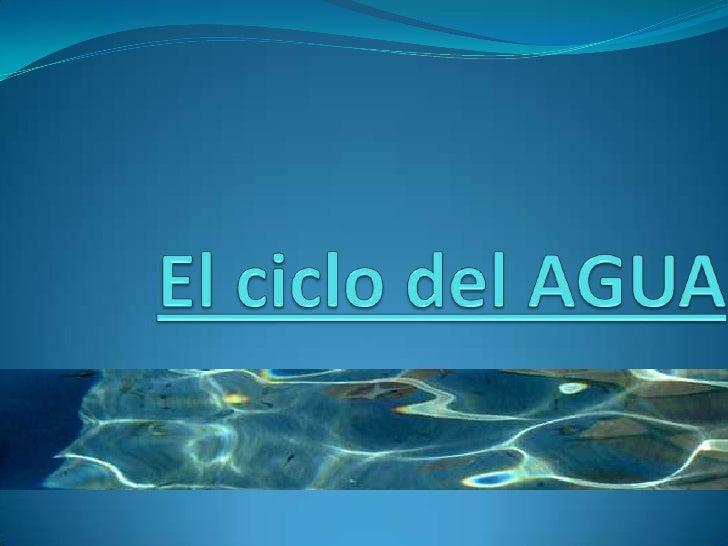 El agua existe en la Tierra en tres estados: sólido (hielo, nieve),líquido y gas (vapor de agua). Océanos, ríos, nubes y l...