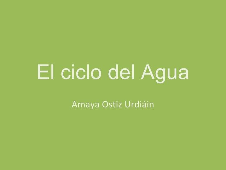 El ciclo del Agua   Amaya Ostiz Urdiáin