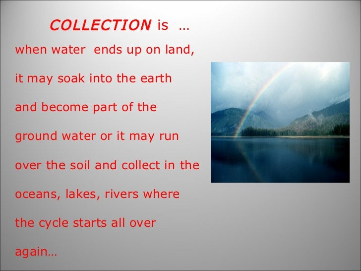 Water cycle song lyrics